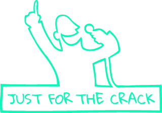 Just For The Crack logo